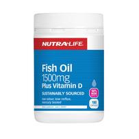 Nutralife 纽乐 纯天然深海鱼油+维生素D胶囊 180粒