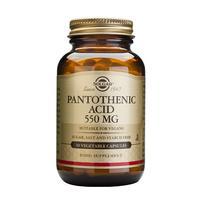 Solgar Pantothenic Acid (Vitamin B5) 550mg Capsules 50