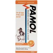 Pamol 宝宝发烧止痛液(橙子味)200ml  每单限购1件