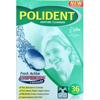 Polident Fresh Active Cleanser Tablets 36 - Deep cleans in 3 mins