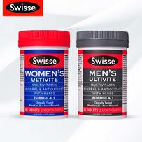 Swisse 男士+女士复合维生素片套装 60片x 2