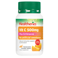 Healtheries 贺寿利 500mg 维生素C+紫锥菊精华咀嚼片 100片
