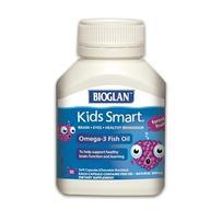 BIOGLAN 聪明儿童Omega-3鱼油咀嚼胶囊 50粒