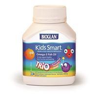 BIOGLAN 聪明儿童Omega-3鱼油三种口味咀嚼胶囊 60粒