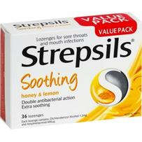 Strepsils Soothing Honey & Lemon Lozenges 36