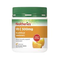 Healtheries Vitamin C 500mg Chewable Tablets - 200 Super Value Pack