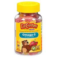 L'il Critters 小熊Omega-3鱼油DHA软糖 60粒