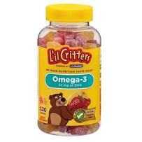L'il Critters 小熊Omega-3鱼油DHA软糖 120粒