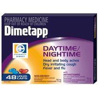 Dimetapp Daytime/Nightime Liquid Capsules 48 每单限购1件