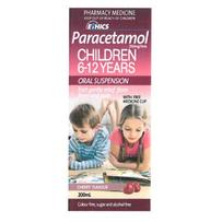 ETHICS Paracetamol Oral Suspension 200ml Cherry - Ages 6-12 years