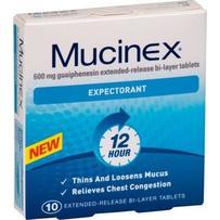 Mucinex Expectorant Tablets 10 每单限购4件