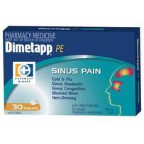 Dimetapp PE Sinus Pain Tablets 30