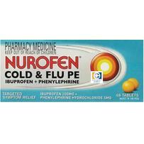 Nurofen Cold & Flu PE Tablets 48 每单限购1件
