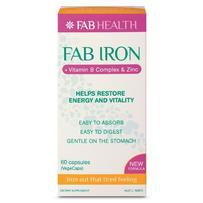 Fab Iron + Vitamin B Complex & Zinc Capsules 60