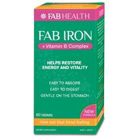 Fab Iron + Vitamin B Complex Tablets 60