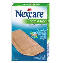 Nexcare - Soft 'N Flex Knee & Elbow 8's
