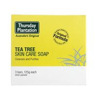 Thursday Plantation 星期四农庄 茶树肌肤护理香皂 125g x 3
