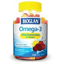 Bioglan 佳思敏 成人Omega-3鱼油咀嚼软糖 110粒
