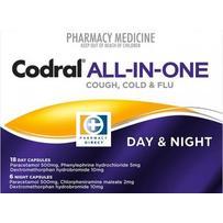 Codral 多效感冒日夜胶囊 24粒 每单限购1件