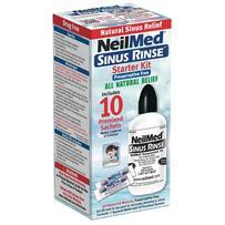 NeilMed Sinus Rinse Starter Kit - 240ml Bottle and 10 Sachets