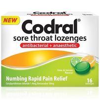 Codral 酸橙柠檬润喉糖 16粒