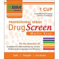 SBM Professional Drug Screen MULTI Test - 1 Cup (6 Different Drugs)