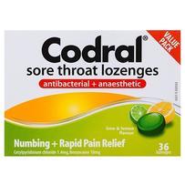 Codral 酸橙柠檬润喉糖 36粒