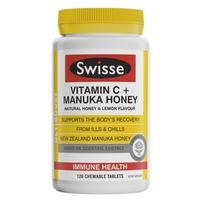 Swisse 高浓度维生素C+天然麦卢卡蜂蜜咀嚼片 120片