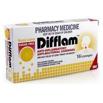 Difflam 消炎止痛抗病毒含片(蜂蜜柠檬味)16片