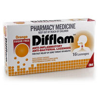 Difflam 消炎抗病毒含片(橙子味)16片