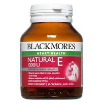 Blackmores Natural E 1000IU Capsules 30