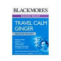 Blackmores 澳佳宝 Travel Calm Ginger 生姜片 防止晕车晕船呕吐 45片