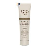 Eco Tan Natural Coconut Sunscreen 150ml - SPF 30 Untinted