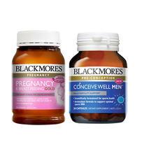 【男女备孕套装】 Blackmores 澳佳宝 女性备孕孕期黄金营养素+ 男士备孕营养素