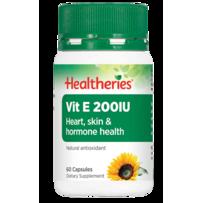 Healtheries 贺寿利  200IU 维生素E胶囊 60粒