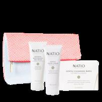 Natio 娜迪奥 日霜 100g + 面部磨砂膏 100g + 卸妆巾 24张 礼盒套装