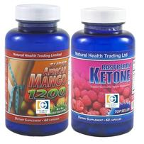 Natural Health Trading 瘦身排毒套装 1套(1200mg非洲芒果瘦身胶囊 60粒+绿咖啡豆复合减肥胶囊 60粒)