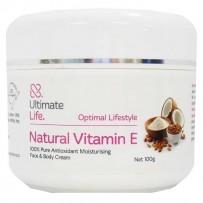 Ultimate Life Natural Vitamin E Cream 100g