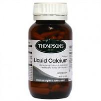 Thompson's 汤普森 天然液体钙胶囊 60粒