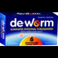 De.worm 香橙味驱虫打虫咀嚼片 6片  每单限购1件