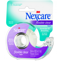 Nexcare - Flexible Clear Tape On Dispenser - 19mm x 6.4m