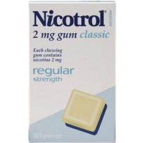 Nicotro 2mg 经典口味戒烟口香糖 150粒