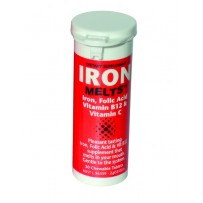 Iron Melts Tab 50 - Pleasant Strawberry tasting - melt in your mouth Iron tablets