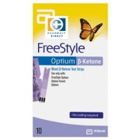 Freestyle Optium KETONES TEST STRIPS 10 - To use with the Freestyle Optium Monitor
