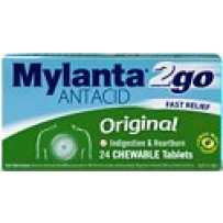 Mylanta Original 2 Go Tablets 24 - Chewable