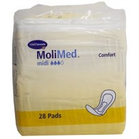 MoliMed Midi Incontinence Adhesive Pads 28's - For Moderate flow