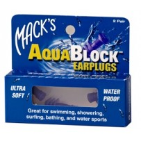 MACK'S AquaBlock Swimmers Ear Plugs - 2 Pairs
