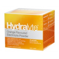 Hydralyte Electrolyte Powder Orange Sachets 10 x 5g