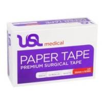 USL Paper Tape 25mm x 9.14m - Hypoallergenic Adhesive Paper Tape