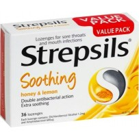 Strepsils Soothing Honey & Lemon Lozenges 36